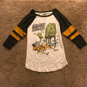 Star Wars Empire strikes back 3/4 length sleeve